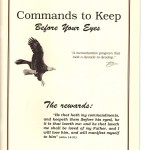 Commands to Keep Before Your Eyes